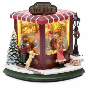 Villages de Noël miniatures: Magasin de jouets de Noël 20x25x15 cm