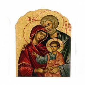 Magnets religieux: Magnet bois Sainte Famille