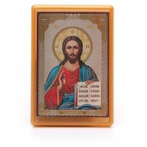 Magneti dei Santi, Madonna, Papa: Magnete russo plexiglass Pantocratore 10x7