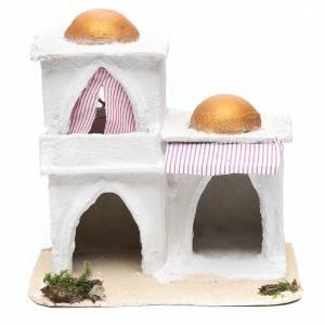 Maisons, milieux, ateliers, puits: Maison arabe crèche 21,5x23x15 cm