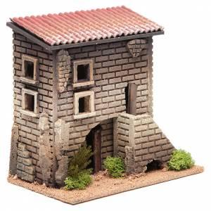 Maison avec petit escalier 23x23x14 pour 6 cm s3