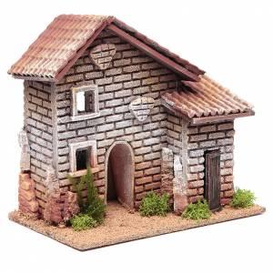 Maison double crèche 20x23x14 cm pour 6 cm s3