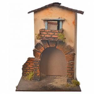 Maison orange pour crèche 21x16x25 cm s1