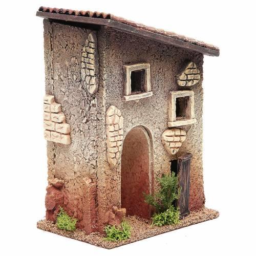 Maisonnette rurale en liège 18x15x13 cm crèche s3