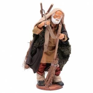Neapolitan Nativity Scene: Man with brooms 13cm Neapolitan Nativity figurine