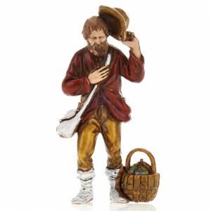 Man with hat, nativity figurine, 8cm Moranduzzo s1
