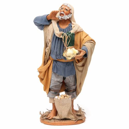 Man with vegetables, Neapolitan nativity figurine 30cm s1