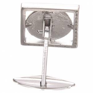 Manschettenknöpfe: Manschettenknöpfe Silber 800 wudnertätige Gottesmutter 1,7x1,7cm.
