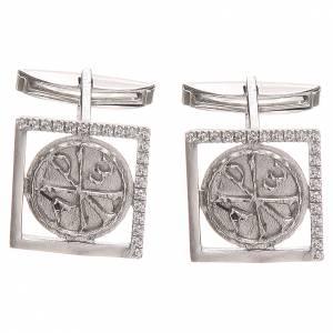 Manschettenknöpfe: Manschettenknöpfe Silber 800 XP Symbol 1,7x1,7cm