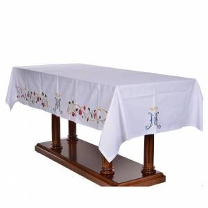 Mantel de altar símbolo mariano 45% algodón, 55% poliéster s3