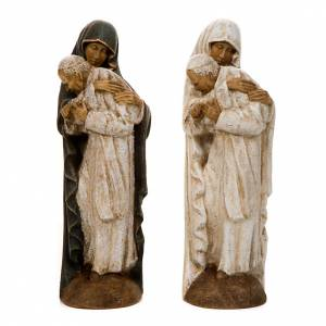 Statue in legno dipinto: Maria e Giovanni Paolo II