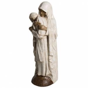 María y Juan Pablo II piedra Bethléem 56 cm s3