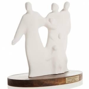 Imágenes de Porcelana y Arcilla: María y la Familia arcilla base de madera 18,5cm