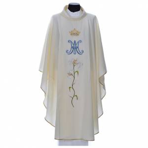 Chasubles: Marian chasuble in pure wool