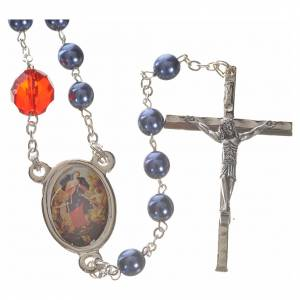 Mary Untier of Knots rosary, blue s1