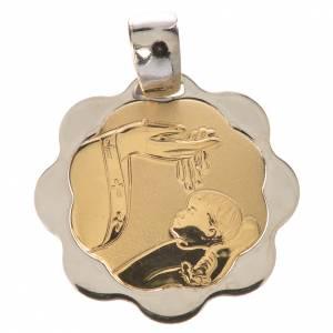 Medaglia battesimo oro 750/00 - gr. 1,48 s1