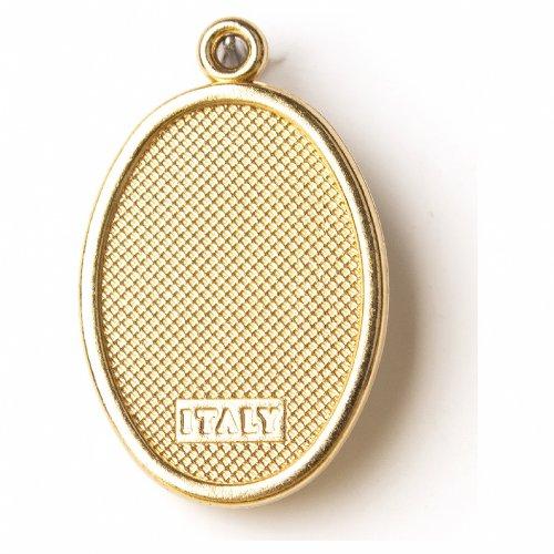 Medaglia Dorata con immagine Resinata San Pio s2