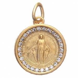 Medaglietta argento 800 Madonna Miracolosa 1,7 cm s1