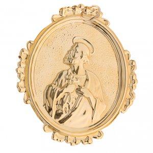 Medaglione confraternite San Pietro ottone s2