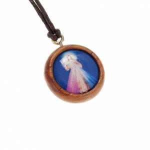 Sonstige Anhänger: Medaille Olivenholz Jesus Barmherzigkeit