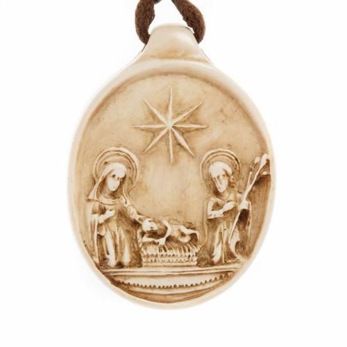 Médaille ronde Nativité pierre Bethléem s1