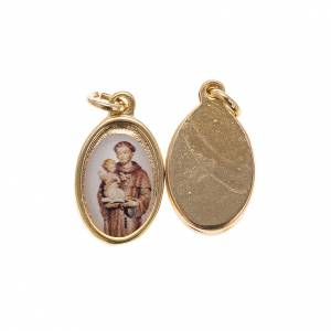 Médaille Saint Antoine de Padoue 1,5x1 cm s1