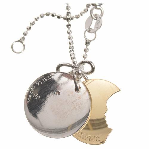 Medalla Corazón de Mamá de Oro 750/00 Blanco y amarillo- gr 4,92 s4