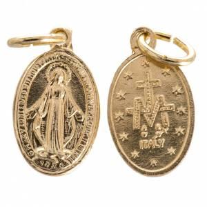 Medallas: Medalla de la Virgen de la Milagrosa aluminio dorado 10mm