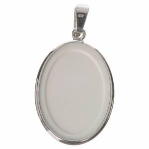 Medalla ovalada de plata, 27mm Virgen del Perpetuo Socorro s2