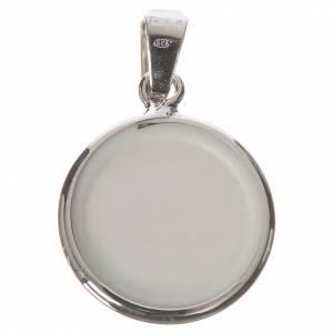 Colgantes, cruces y broches: Medalla redonda de plata, 18mm San Antonio