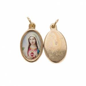 Medallas: Medalla Sagrado Corazón de María dorado resina 1,5