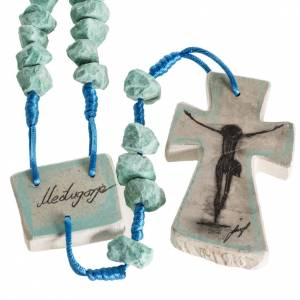 Rosaries and rosary holders: Medjugorje chaplet, green and blue