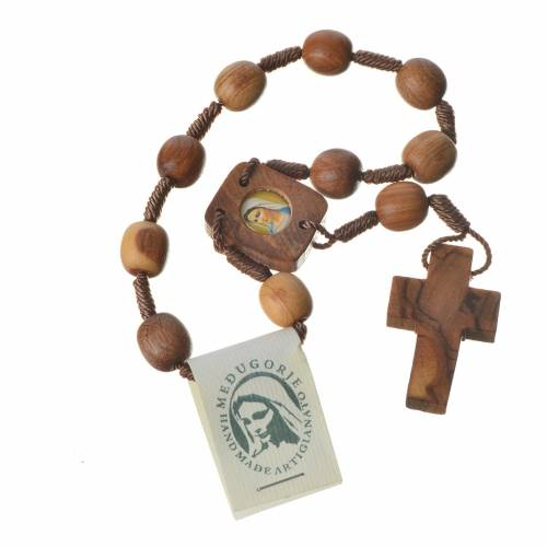 Medjugorje one-decade rosary in olive wood s3