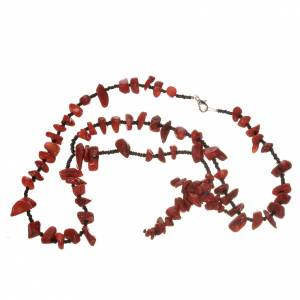 Medjugorje rosary beads in red hard stones s3