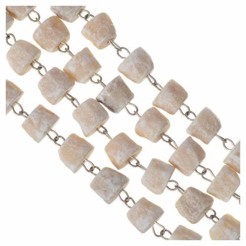 Medjugorje rosary in white stone Divine Mercy of Jesus s4