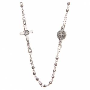 Rosaries and rosary holders: Medjugorje Rosary necklace with Christ's cross