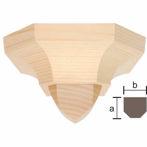 Mensola stile gotico 12x14 naturale cerato s1
