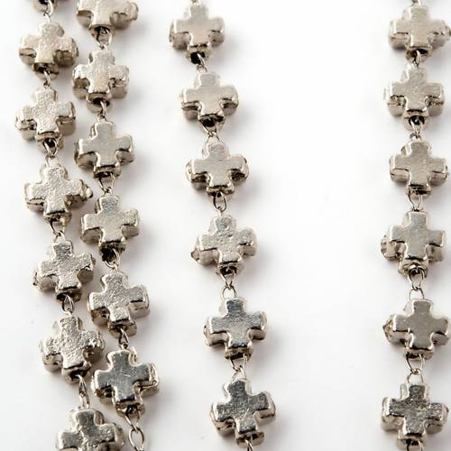 Metal cross-shaped beads rosary 2