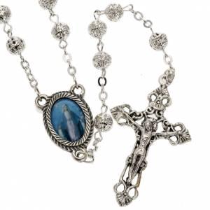 Metal filigree rosary 6 mm s1