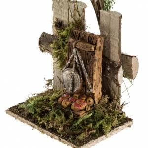 Milieu crèche Noel avec troncs et balance s3