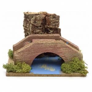 Ponts, ruisseaux, palissades pour crèche: Milieu crèche pont et ruisseau
