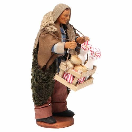 Milkman with box and glass bottles, Neapolitan Nativity 12cm s4
