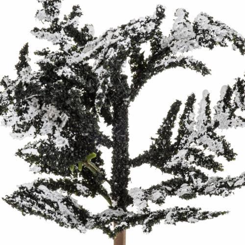 Mini arbre enneigé 15 cm s2