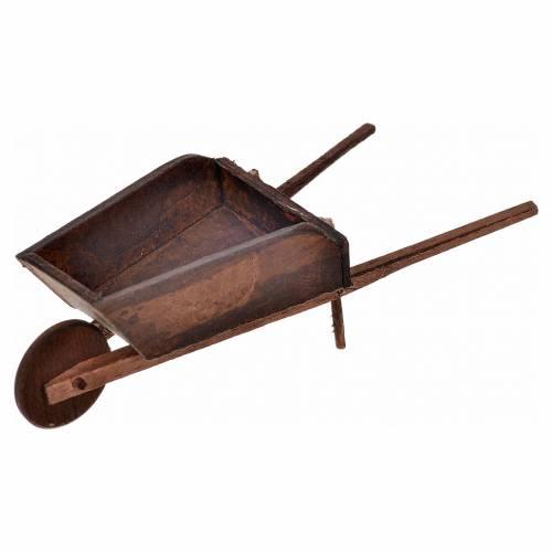 Mini brouette crèche Napolitaine 4x11x4 cm s1
