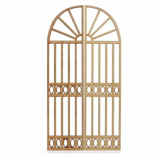 Mini portail courbé crèche 26,5x13cm 2 pcs s1