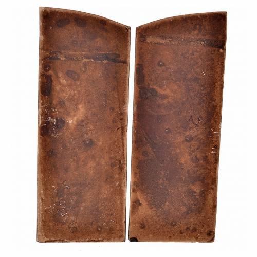 Mini porte double battant en plâtre couleur bois crèche s2