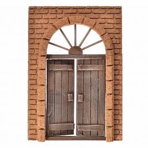 Mini porte en bois mur en liège pour crèche, 21x15cm s1