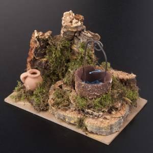 Miniature décoratif crèche noël puits s2
