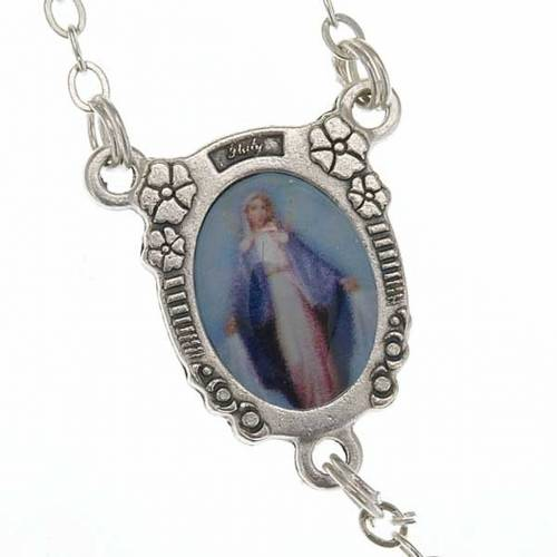 Miraculous Virgin pearl effect rosary s2