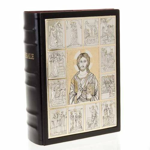 Missal bookcase with Christ Pantocrator plaque s1